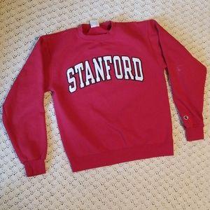 Champion Stanford Patch Crewneck Sweatshirt